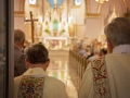Father Dave and Deacon Steve at the start of the Polka Mass. Photo courtesy of Erick Macek (www.erickmacek.com)