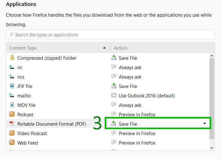 Changing Firefox pdf settings (2 0f 3)