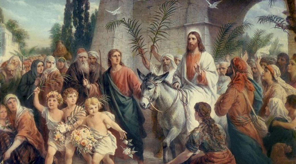 Palm Sunday: the glory of a humble King riding into Jerusalem or the agony of the Suffering Servant by whose stripes we are healed?