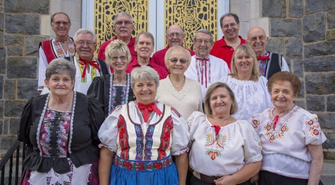 The Tatras Singers in traditional garb at the 2018 Polka Mass at Incarnation of Our Lord Church, Bethlehem, PA