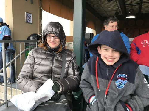 A Cold Day the Iron Pigs Game