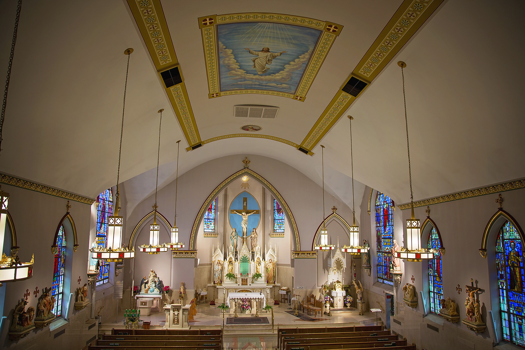 A view of Incarnation of Our Lord Church from the Choir Loft. Photo courtesy of Erick Macek (www.erickmacek.com)