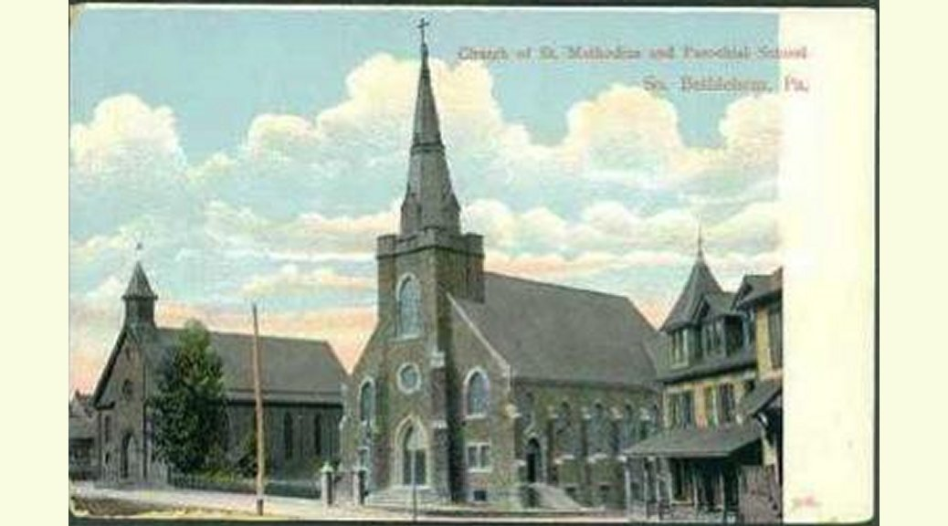 Old postcard of Sts. Cyril & Methodius, Bethlehem, PA.